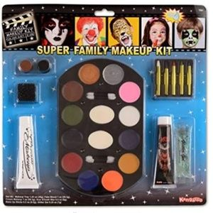 Super Jumbo Deluxe Family Halloween Makeup Kit NEW
